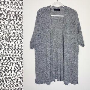 Tahari Open Front Chunky Knit Cardigan Sweater 1X